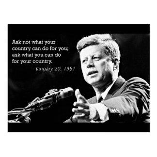 John F Kennedyのやる気を起こさせるな引用文 ポストカード