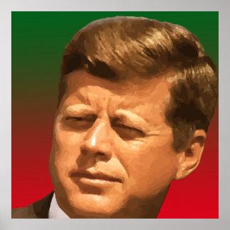 John F Kennedyのコンピュータポートレート ポスター