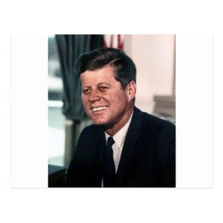 John F Kennedyのホワイトハウス色のポートレート ポストカード