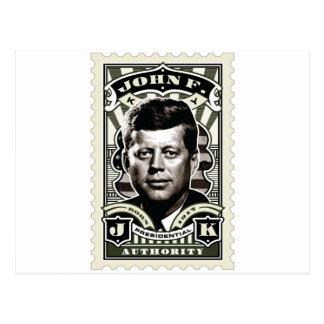 John F Kennedyのヴィンテージのスタンプの芸術 ポストカード