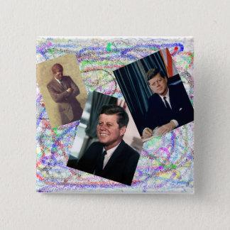 John F Kennedyの落書き 5.1cm 正方形バッジ