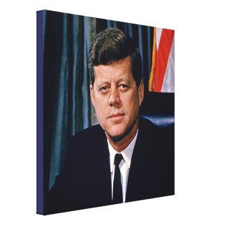John F Kennedy大統領 キャンバスプリント