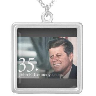 John F Kennedy シルバープレートネックレス