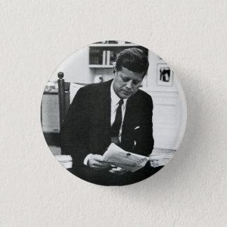 John F Kennedy 2の写真 3.2cm 丸型バッジ