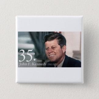 John F Kennedy 5.1cm 正方形バッジ