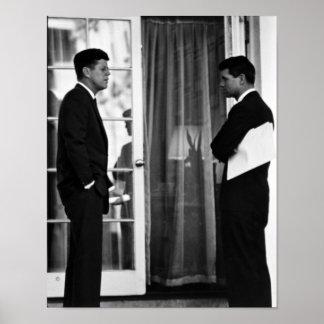 John Kennedyおよびロバートケネディ大統領 ポスター