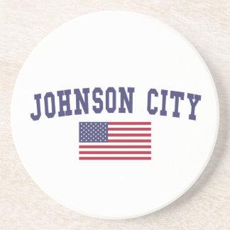Johnson City米国の旗 コースター