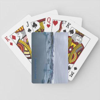 Jokulsarlonのカードを遊ぶアイスランド氷河礁湖 トランプ