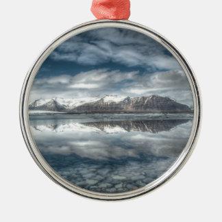 Jokulsarlonの氷礁湖、アイスランド メタルオーナメント
