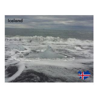 Jökulsárlón、アイスランド ポストカード