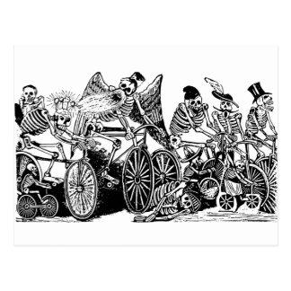 Joséグアダルペポザーダ著骨組サイクリスト ポストカード