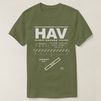 José Martíの国際空港HAVのTシャツ Tシャツ