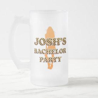 Joshのバチュラーパーティ フロストグラスビールジョッキ
