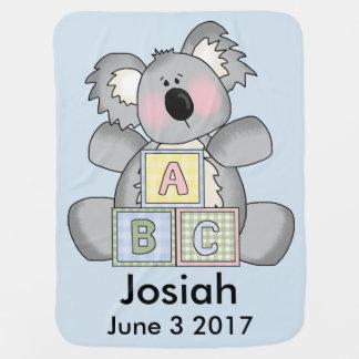 Josiahの名前入りなコアラ ベビー ブランケット