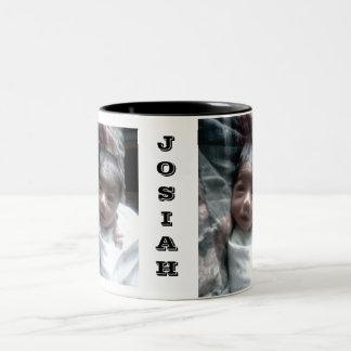 JOSIAHは十分に開いたをの十分に開いたJOSIAHの目J…注目します ツートーンマグカップ