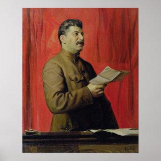 Josifスターリン1933年のポートレート ポスター