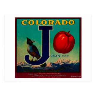 Joslyn Appleの木枠のラベル ポストカード