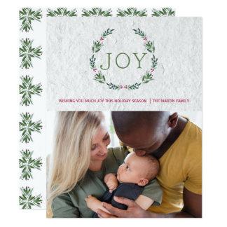 JOY HOLLY WREATH CHRISTMAS CARD カード