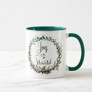 Joy to the World Wreath マグカップ