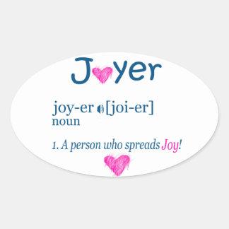 Joyer辞書定義 楕円形シール