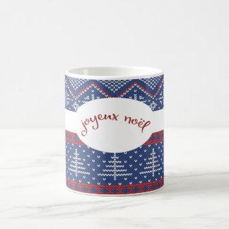 Joyeux Noelのクリスマスのセーターのニット コーヒーマグカップ