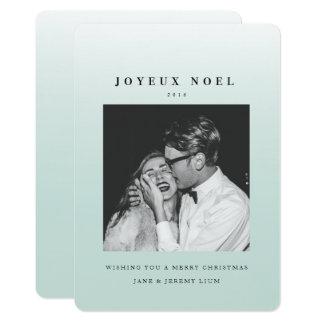 Joyeux Noelのグラデーションなクリスマスの写真カード カード