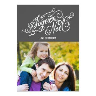 JOYEUX NOELの休日の写真カード カード