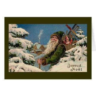 """Joyeux Noel""ヴィンテージのクリスマスカード"" カード"