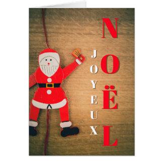 Joyeux Noel Père Noel Grimpeur Carte de Voeux カード