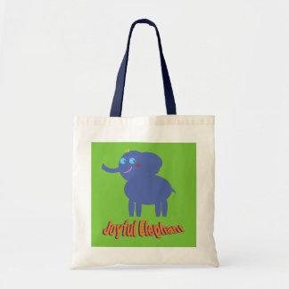 Joyful Elephant トートバッグ