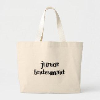 Jr.新婦付添人の黒い文字 ラージトートバッグ