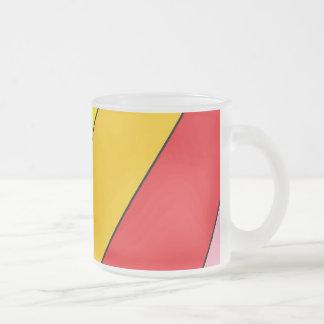JShao著曇らされた10のozの曇らされたガラスのマグの芸術 フロストグラスマグカップ