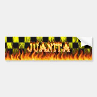 Juanitaの実質火および炎のバンパーステッカーは設計します バンパーステッカー