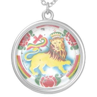 Judahのライオン シルバープレートネックレス