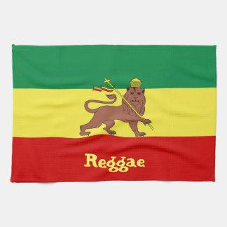 Judahのラスタのレゲエのライオン キッチンタオル