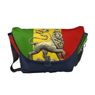 Judahの人力車のバッグのラスタのレゲエのライオン クーリエバッグ