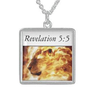 Judahの種族のライオン スターリングシルバーネックレス