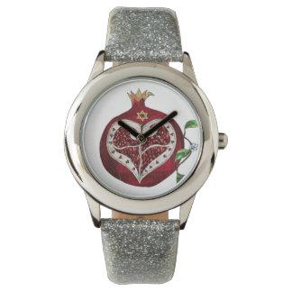 JudaicaのザクロのハートハヌカーRosh Hashanah 腕時計