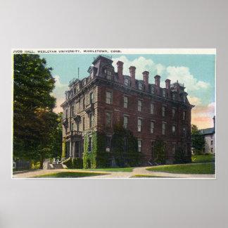 JuddホールのWesleyan大学の外観 ポスター