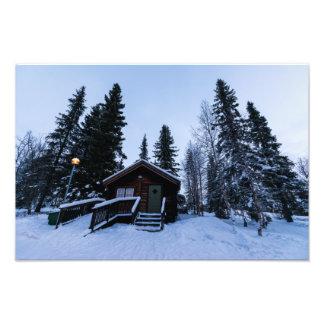 Jukkasjärviの写真のプリントの冬 フォトプリント