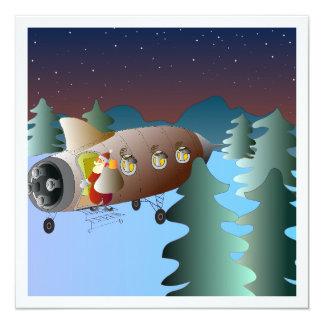 Julkort medのmånraketのochのtomte カード