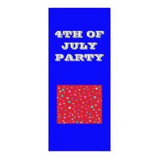 July>.Partyの招待状の第4 カード