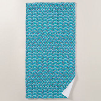 Jumping Fish Blue Beach Towel ビーチタオル