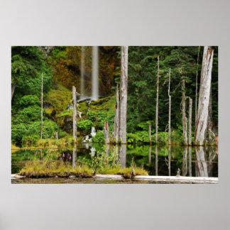 june湖の滝 ポスター