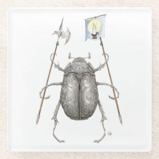 Junebugの騎士ガラスのコースター ガラスコースター