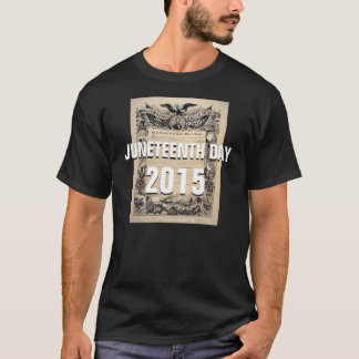 Juneteenth日2015年のカスタムなTシャツ2015年6月19日 Tシャツ