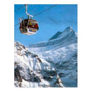 Jungfrauへのケーブル・カー ポストカード