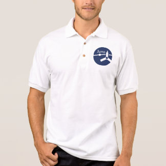 Junoの宇宙探査機の代表団パッチのポロシャツ ポロシャツ