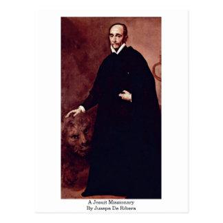 Jusepe De Ribera著イエズス会士の宣教師 ポストカード