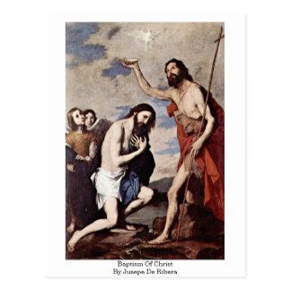Jusepe De Ribera著キリストの洗礼 ポストカード